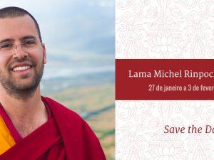 Save the date Lama Michel Rinpoche no Brasil