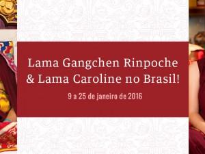 Lama Gangchen Rinpoche & Lama Caroline no Brasil!