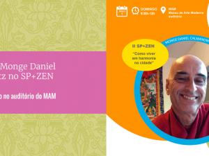 Palestra com monge Daniel na Virada Zen