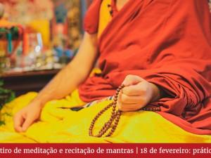 Retiro de meditação e recitação de mantras