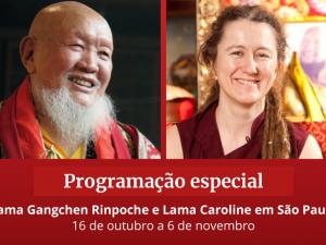 Lama Gangchen Rinpoche e Lama Caroline em São Paulo