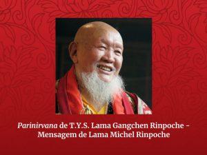 Comunicado de Lama Michel Rinpoche